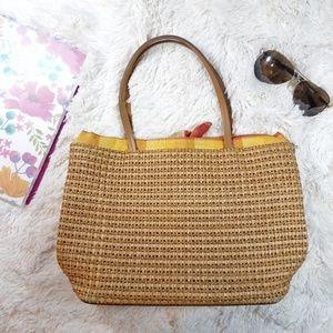 Maurizio Taiuti Woven Straw shoulder bag handbag